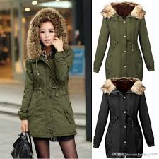 2018 2016 new women fleece parka winter coat army green fur hooded coat fashion las jacket plus size plus size from laozhao8481 44 0 dhgate com