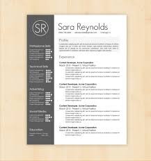 Resume Formats Word Simple Template Design Resume Template Sara Reynolds Free Templates Word R