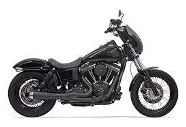 Bassani - Road Rage 2-Into-1 Upswept Exhaust Short - 2006-2017 Dyna FXD -  Stepped Headers - Black - Throttle Addiction