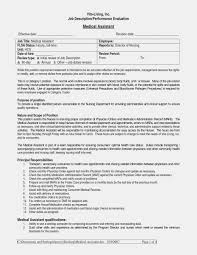 Sample Resumes For Clerical Jobs Unique Medical Assistant Duties