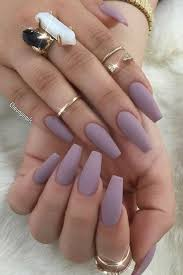 Solid Color Acrylic Nail Designs Different Types Of Nail Shapes Fall Acrylic Nails Solid
