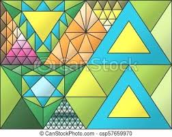 simple stained glass window stained glass window triangulation random figures simple stained glass window ideas