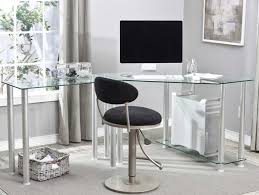 l shaped glass top desk with beautiful design with clear tempered intended for l shaped desk