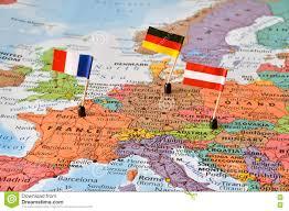 Χάρτης των χωρών Γερμανία, Γαλλία, Αυστρία της δυτικής Ευρώπης Στοκ Εικόνα - εικόνα από australites: 73810693