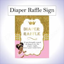 raffle sign princess diaper raffle sign pink gold chic baby cakes