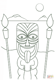 Small Picture Tiki Man With Torches Coloring Page Free Printable Coloring