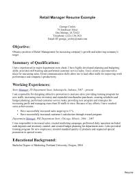 Retail Job Resume Customer Service Retail Job Description For Resume Unique Sales 3