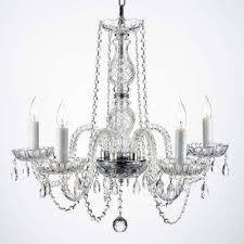 empress crystal 5 light clear crystal chandelier