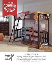 ston twin bunk bed and desk back to campus style back to school furniture and accessories ashley furniture