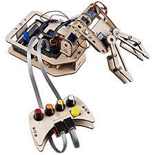 amazon com microbotlabs armuno 2 0 robotic arm kit mearm and sunfounder robotic arm diy robot kit arduino 4 axis wooden mental servo rollarm toy kids