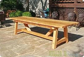 full size of outdoor trestle dining table plans diy garden woodworking wooden architectures enchanting ou