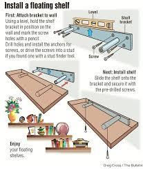 diy floating shelves install floating shelf building floating kitchen shelves