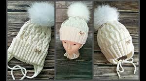<b>Шапка</b> детская спицами. Модная <b>шапочка для девочки</b> ...