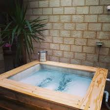 diy hot tub cover holder diy hot tub base wood fired hot tubs do it your