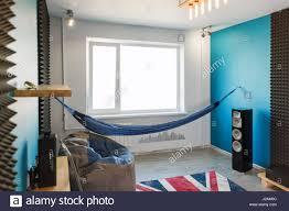 Wohnzimmer Mit Einer Hängematte Im Modernen Stil