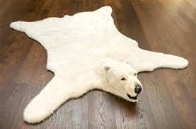 faux bear skin rug faux bear skin rug fake polar with head home rugs ideas faux faux bear skin rug