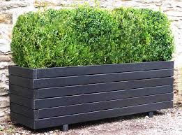 Tall Outdoor Planters and How to Benefit From Them : Very Large Wooden Trough  Planters Long.