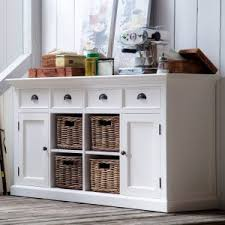 Kitchen buffet hutch Built In Nova Solo Halifax Buffet With Baskets Hayneedle Farmhouse Cottage Style Buffets And Sideboards Hayneedle