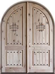 8 0 tall rustic knotty alder radius top double door