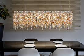 image of bella rectangular crystal chandelier