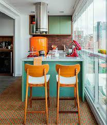 renkli retro mutfaklar - Dekorstilleri.com