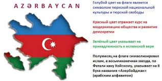 Картинки по запросу флаг азербайджана на карте