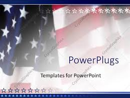 Powerpoint Template American Flag Patriotic On Faded