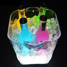 5l led ice bucket with handle charging battery wine cooler holder champagne drinks bucket rack