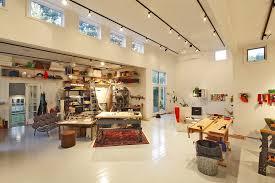 studio track lighting. Bridgeport Studio Home Office Modern With Floating Shelves Leather Sofas Artist Track Lighting