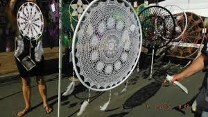 Giant Dream Catchers Amazing Giant Dreamcatcher Bild Från Caloundra Street Fair Caloundra