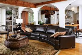 Leather Sectional Living Room Leather Sectional Sofas To Complete Your Living Room Image
