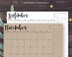 calendar etsy