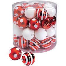 Weihnachtskugel Set 39 Teilig Rot Weiß