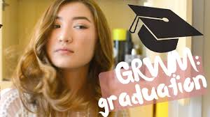 get ready with me high graduation hair makeup