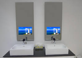 mirror tv. bathroom mirrors: tv in the mirror style home design excellent at