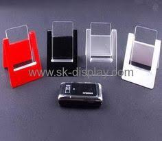 Cell Phone Display Stands Clear Lucite Cell Phone Retail Display Stand CPK100 Acrylic 82