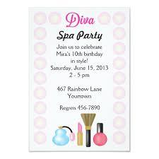Diva Spa Party Invitations