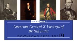 governor general viceroys of british india free pdf