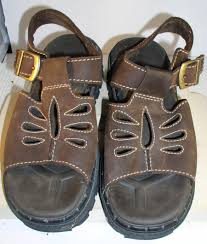 details about women s skechers brown leather sandals size 8