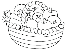 Fruits And Vegetables Coloring Pages Gopaymentinfo