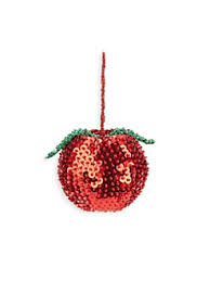 apple ornaments. beaded apple ornament no color. product image ornaments