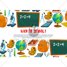 Welcome Back To School Banner Design Gl Stock Images
