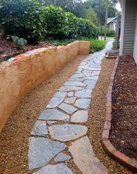 loose flagstone patio. A Flagstone And Gravel Walkway May Be The Right Way To Go When Designing Your Yard, Garden Or Patio, Perhaps With Soothing Fountain Firepit Too. Loose Patio