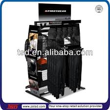 Apparel Display Stands Tsdm100 Custom Shop Double Side Floor Metal Display Stand For 65