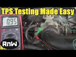 how to set throttle position sensor ajustment for idle control see how how to test a throttle position sensor tps or out a wiring