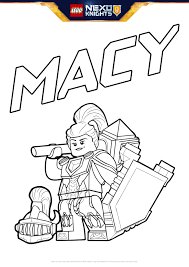 Small Picture Macy With Shield Colouring Page Activities NEXO KNIGHTS LEGOcom