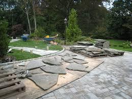 Flagstone selection. Flagstone path stone selection