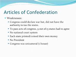 on articles of confederation weakness articles of confederation weaknesses essay