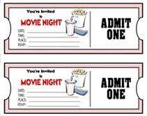 Diy Tickets For Movie Night Birthday Invites Movie Tickets