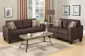 fabric sofa set. Charon Brown Fabric Sofa And Loveseat Set
